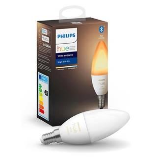 LED žiarovka Philips Hue Bluetooth, 6W, E14, White Ambiance