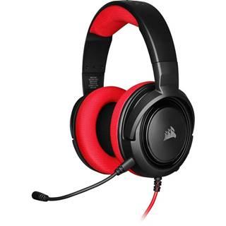 Headset  Corsair HS35 čierny/červený