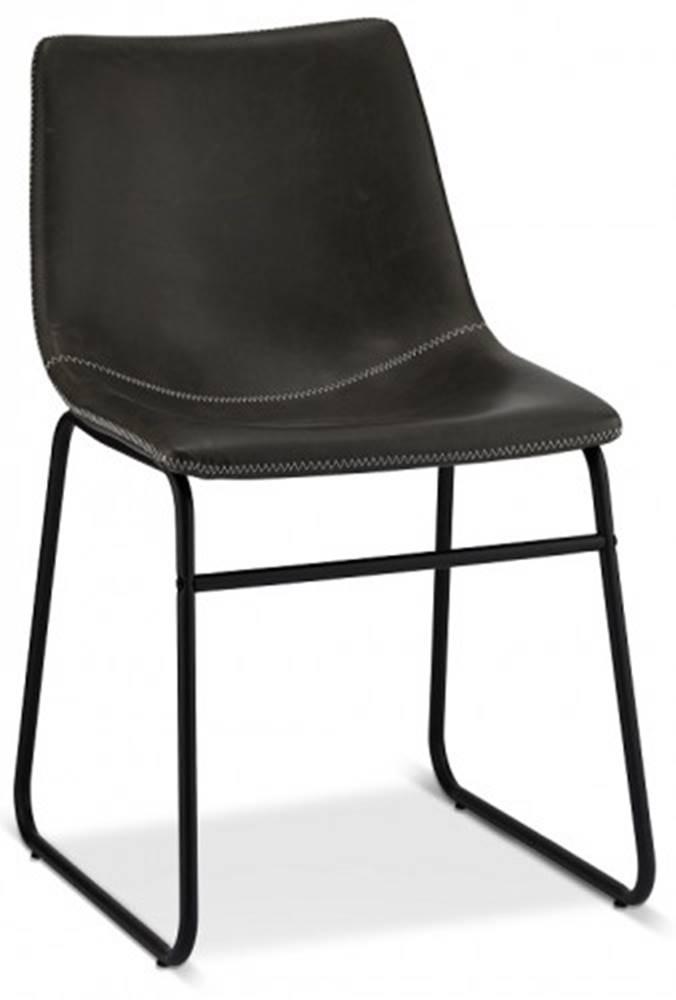 OKAY nábytok Jedálenská stolička Guaro sivá, čierna