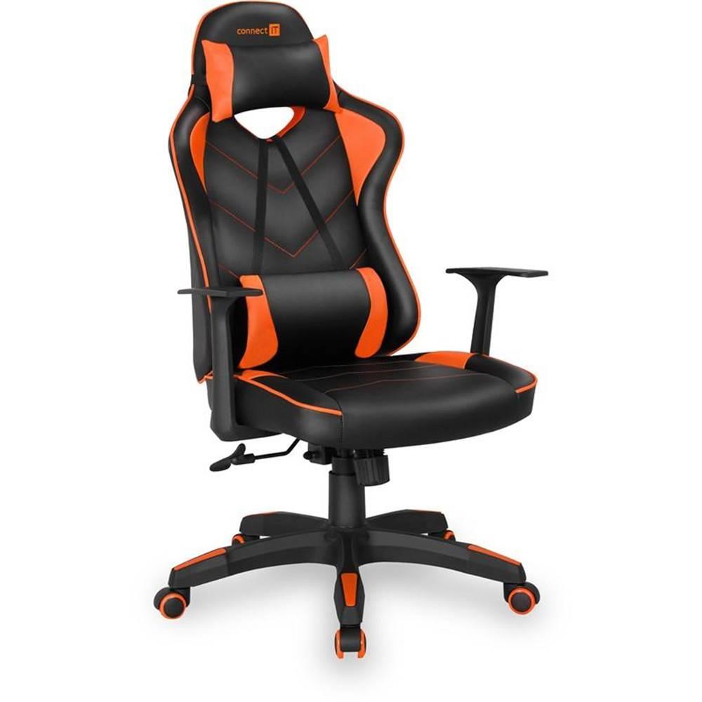 Connect IT Herná stolička Connect IT LeMans Pro čierna/oranžová