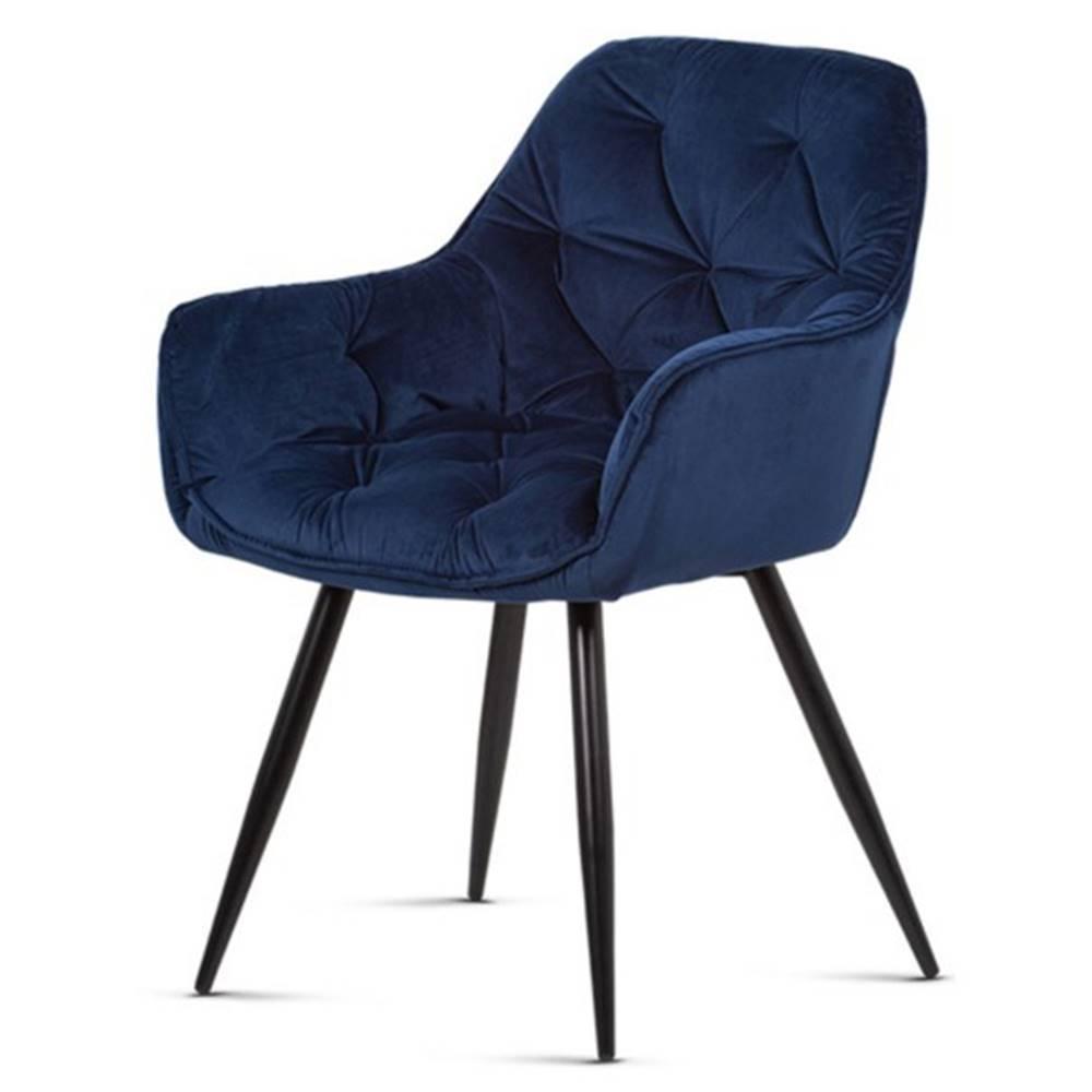 Sconto Jedálenská stolička ELIZABETH modrá/čierna