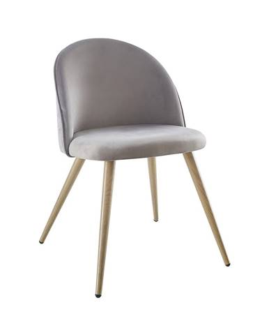 Jedálenská stolička LAMBDA sivý zamat