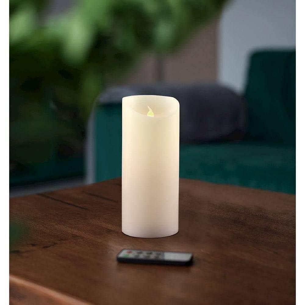 DecoKing LED sviečka s diaľkovým ovládačom DecoKing Wax, výška 15 cm
