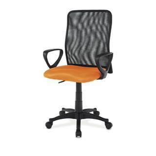 Kancelárska stolička FRESH oranžová/čierna